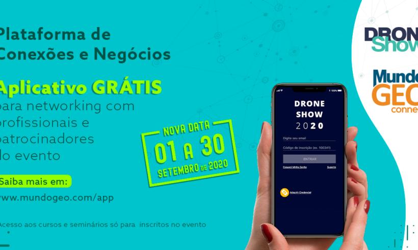 Baixe gratuitamente o Aplicativo DroneShow e MundoGEO 2020