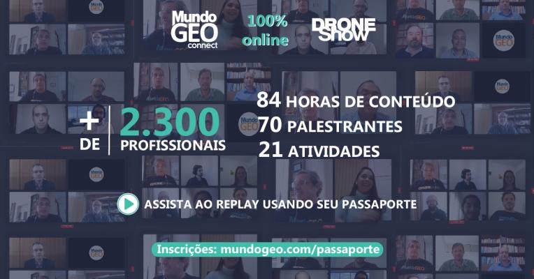 Mais de 2.300 profissionais são alcançados pelo MundoGEO Connect e DroneShow 2020