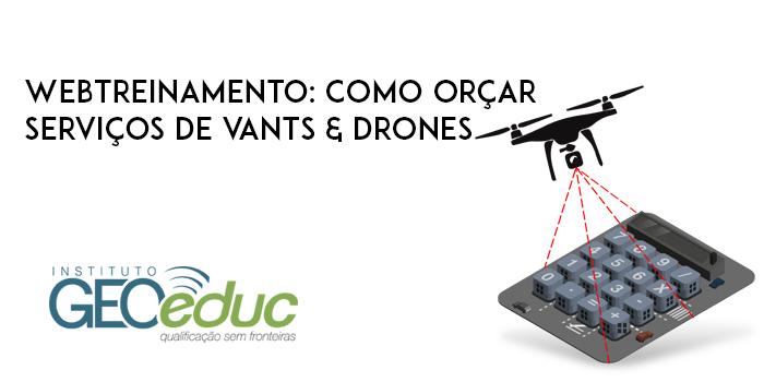 Inscreva-se agora para o WebTreinamento sobre como orçar serviços de VANTs & Drones