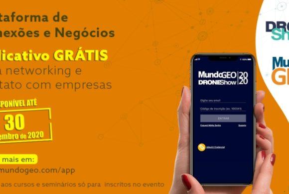 Acesso gratuito prorrogado até 30 de novembro ao aplicativo MundoGEO Connect e DroneShow 2020