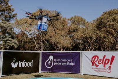 primeira entrega de comida por drone no brasil