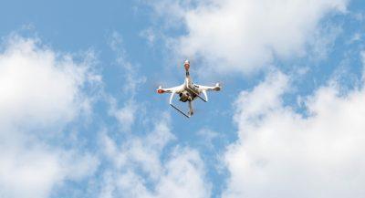 topografia com o drone phantom