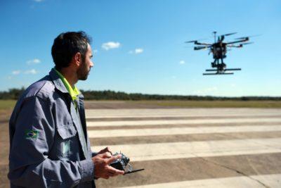transporte de bolsas de sangue com drones