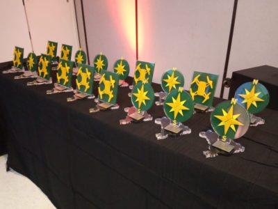 trofeus do premio droneshow e mundogeo 2019