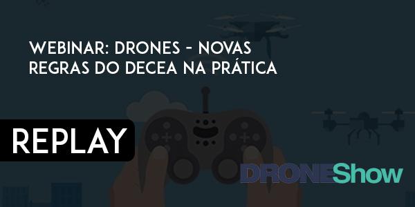 Disponível replay e pdf da palestra sobre autorização de voos com Drones. Confira!